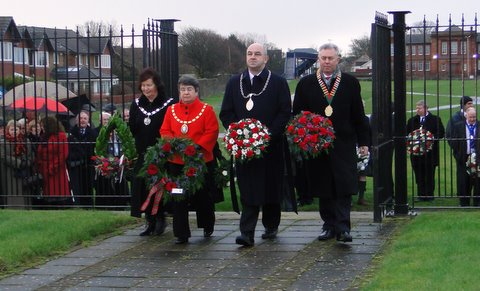 Wreath-laying January 2012
